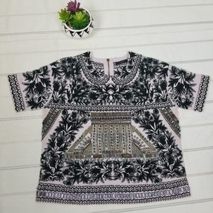 J.crew embellished and embroidered top size L -C9